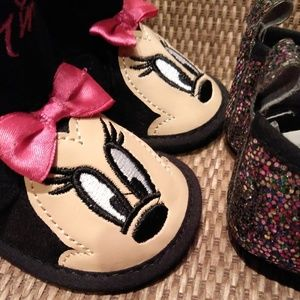 NWOT Disney Shoes - NWOT GIRL BUNDLE OF 2 - DISNEY BOOTS & SLIP ONS